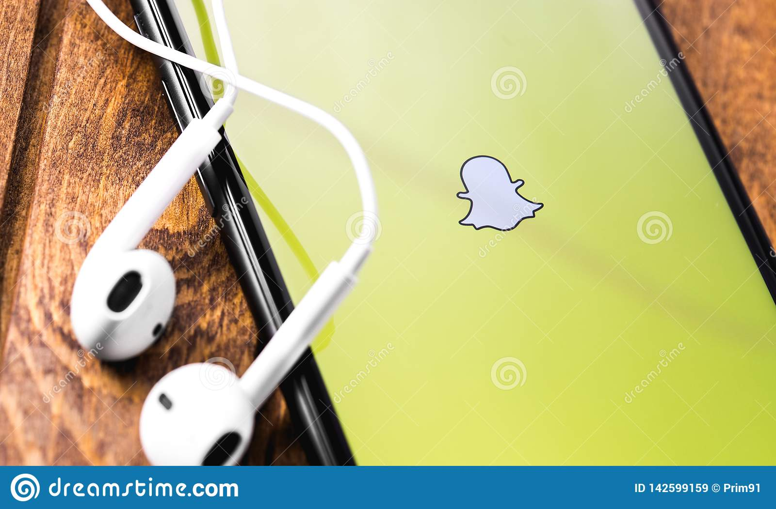 Snapchat Logo On The Screen Apple IPhone Editorial Stock