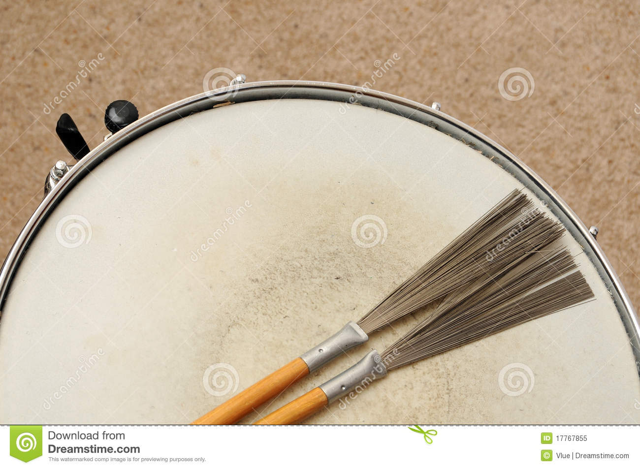 snare drum with brushes stock image image of musician 17767855