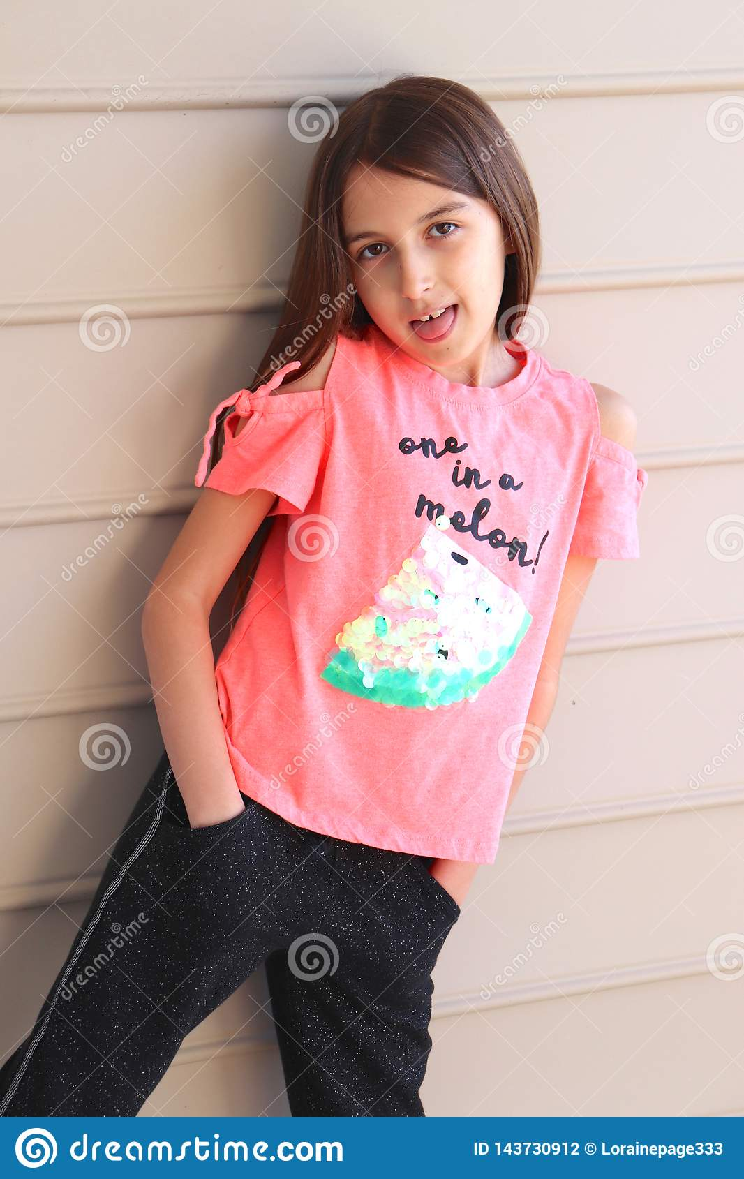 Snarky Pose by Tween Girl, Hands in Pockets