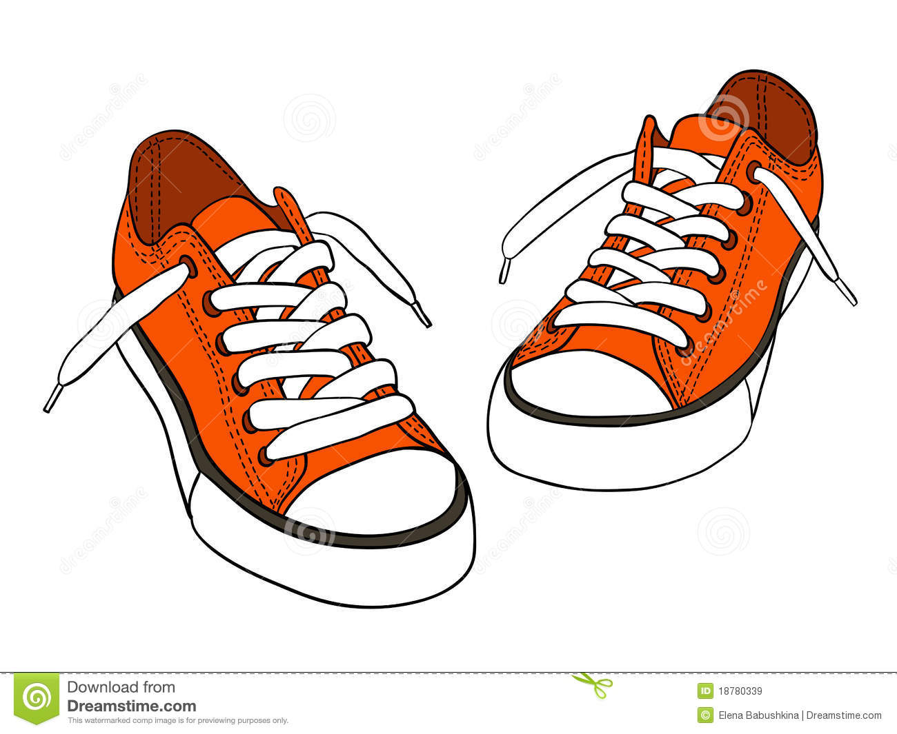 Drawing Of A Running Shoe