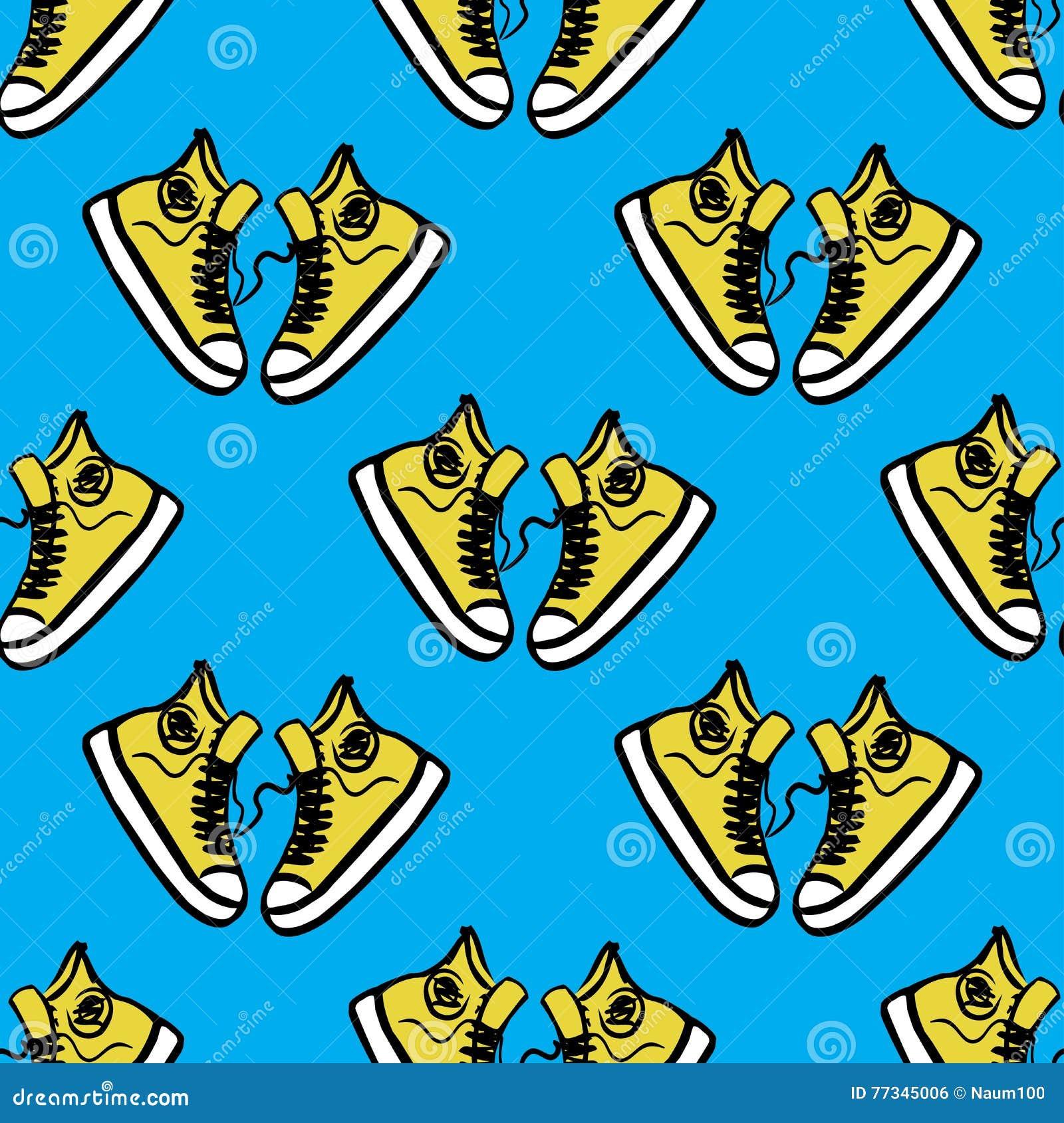 Sneakers na błękitnym tle