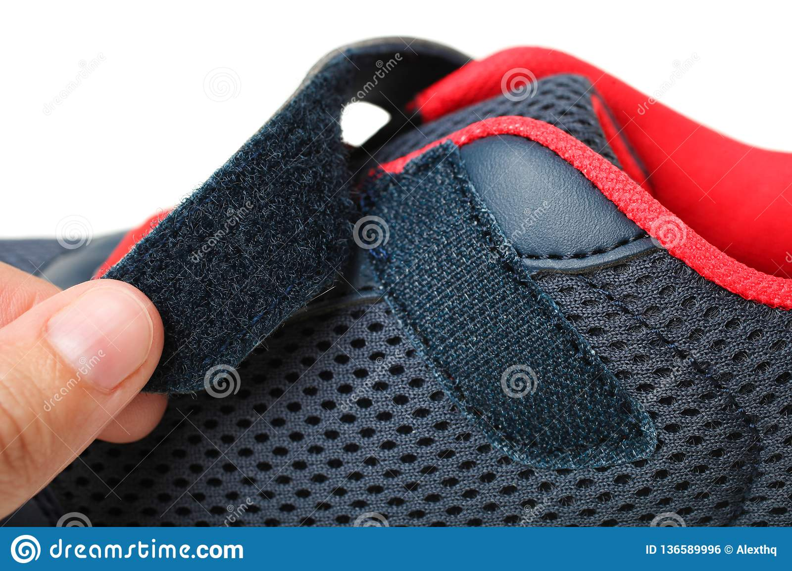 Sneakers with Velcro fastener