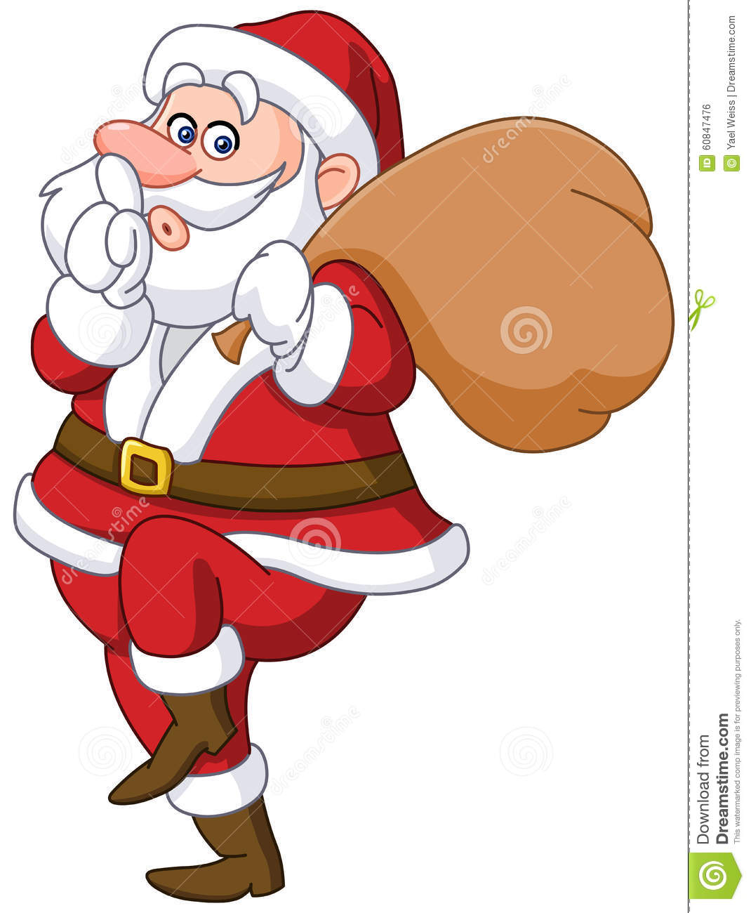 sneaky santa stock vector image 60847476 Business Card Icon Business Card Icon