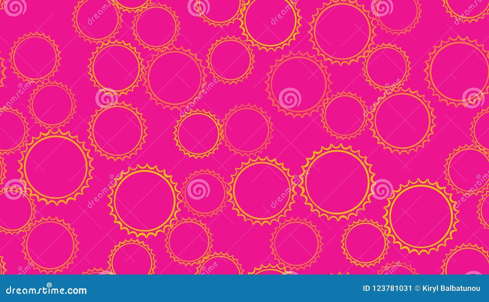 Sneed het textuur naadloze patroon van reeks van multi-colored eenvoudige ronde samenvatting bellencirkels van geometrische vorme