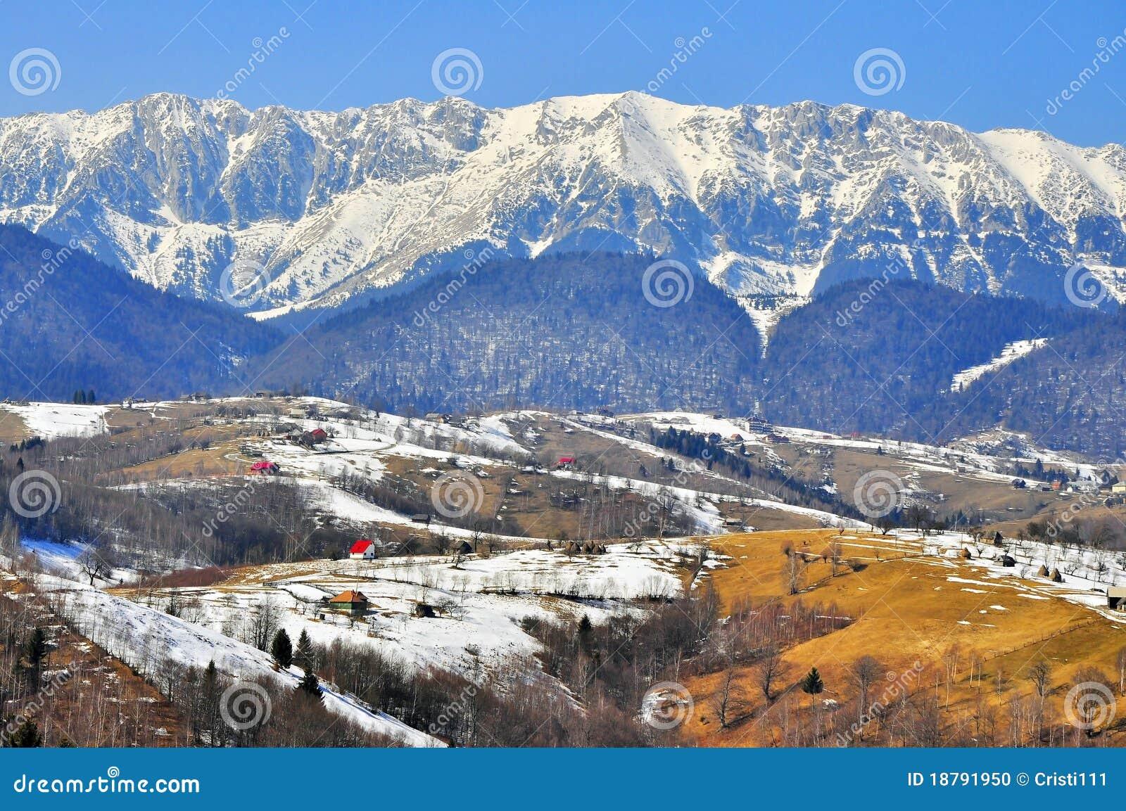 Sneeuw hoge hoogtelandschap