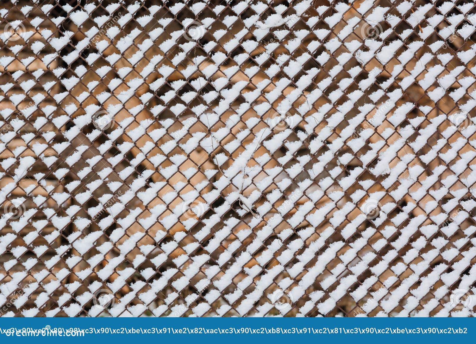 Sneeuw op een net Het is heel wat sneeuw op een net