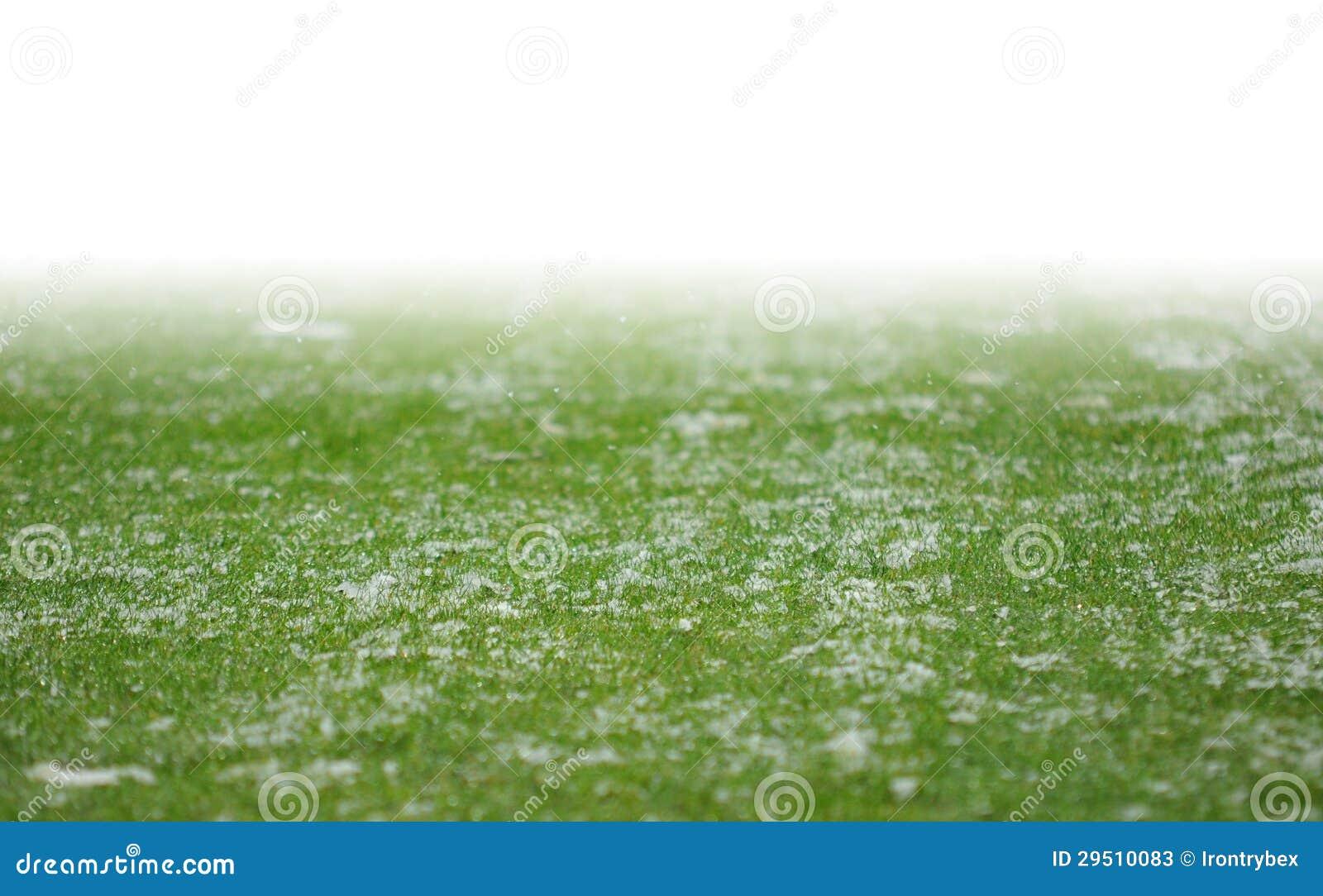 Sneeuw op voetbalhoogte