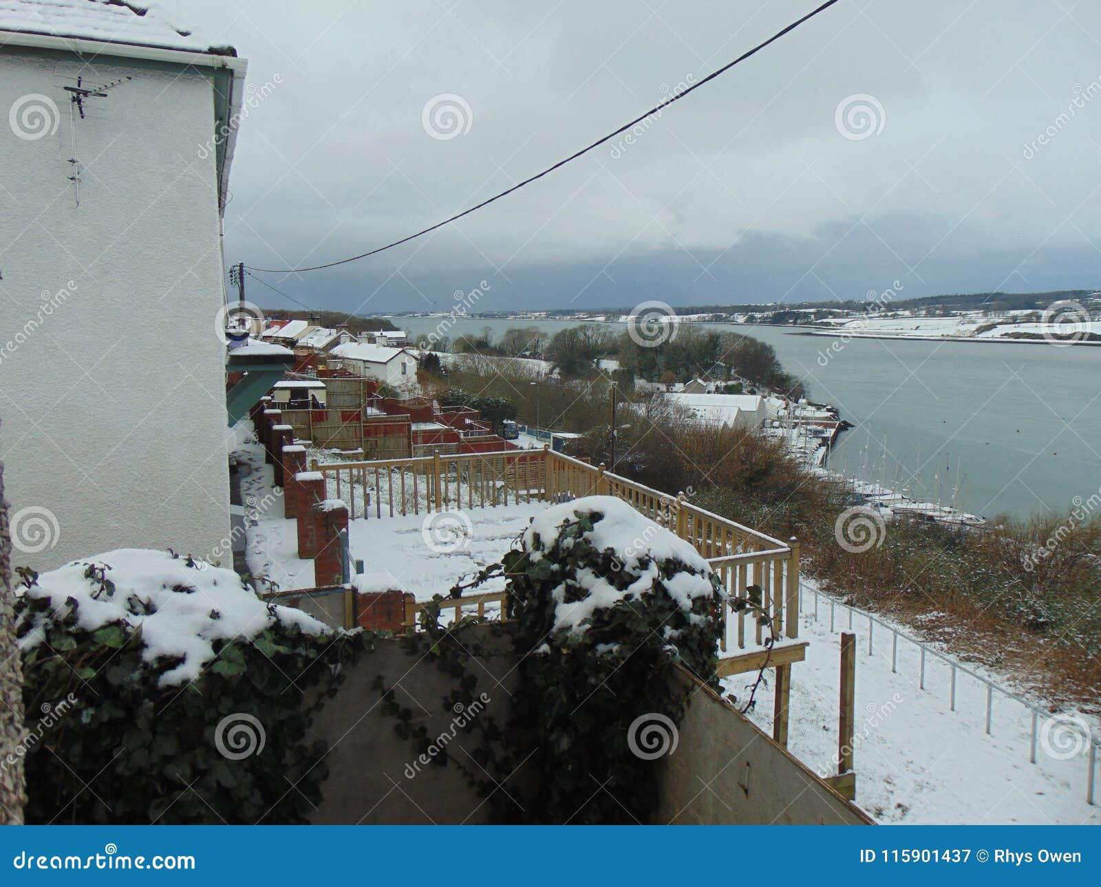 Sneeuw Wels Dorp