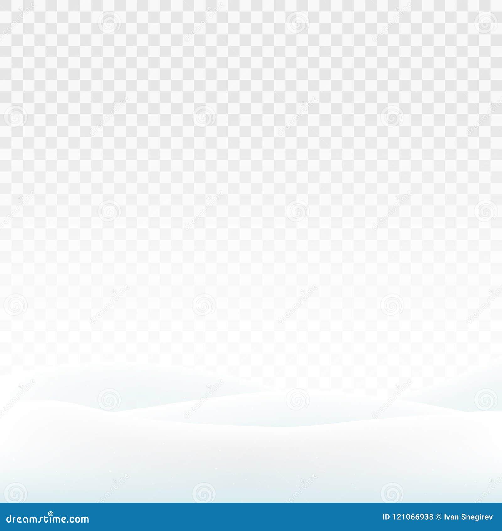Sneeuwbanken van de voorraad de vectordieillustratie op een transparante achtergrond worden geïsoleerd Witte sneeuw De Wildernis