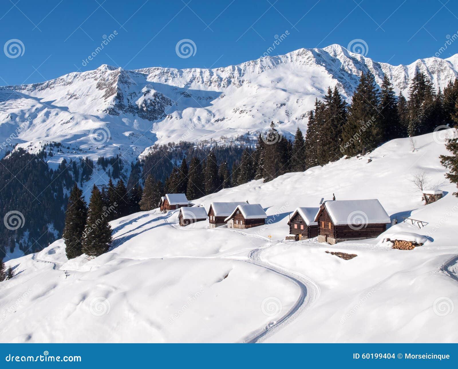 Sneeuwbergchalet in hout