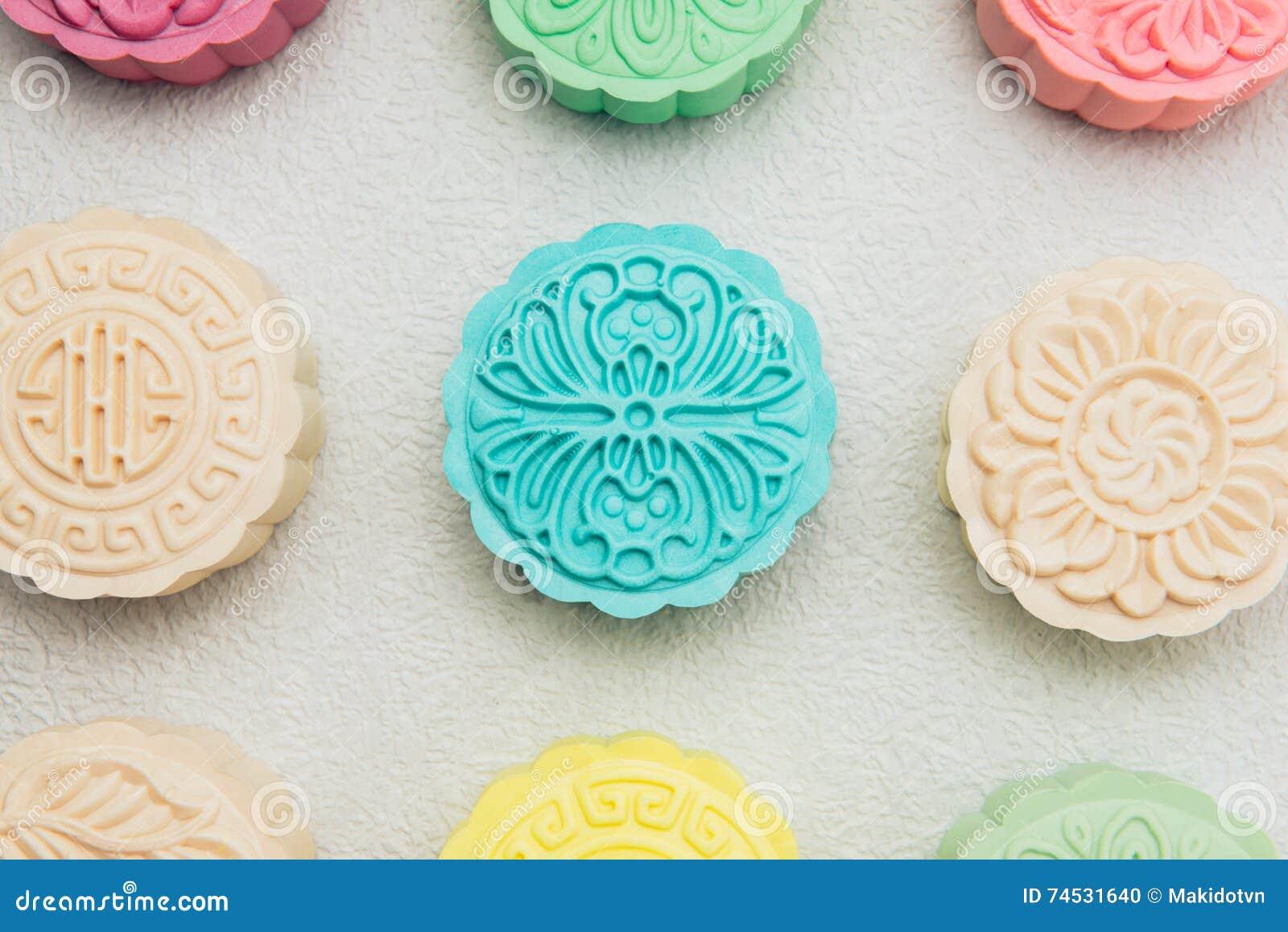 Sneeuwhuid mooncakes Het Chinese medio voedsel van het de herfstfestival Traditi