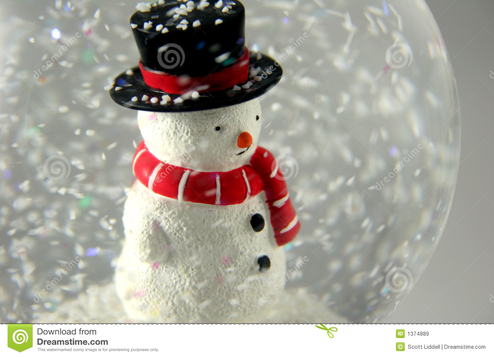 Sneeuwman in Snowglobe