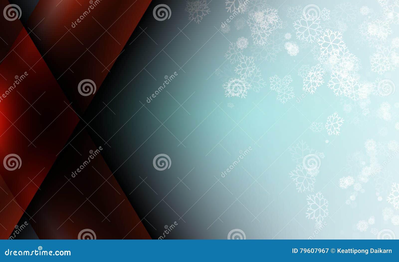 Sneeuwvlok op blauwe het gebieds abstracte achtergrond van kleurenkerstmis