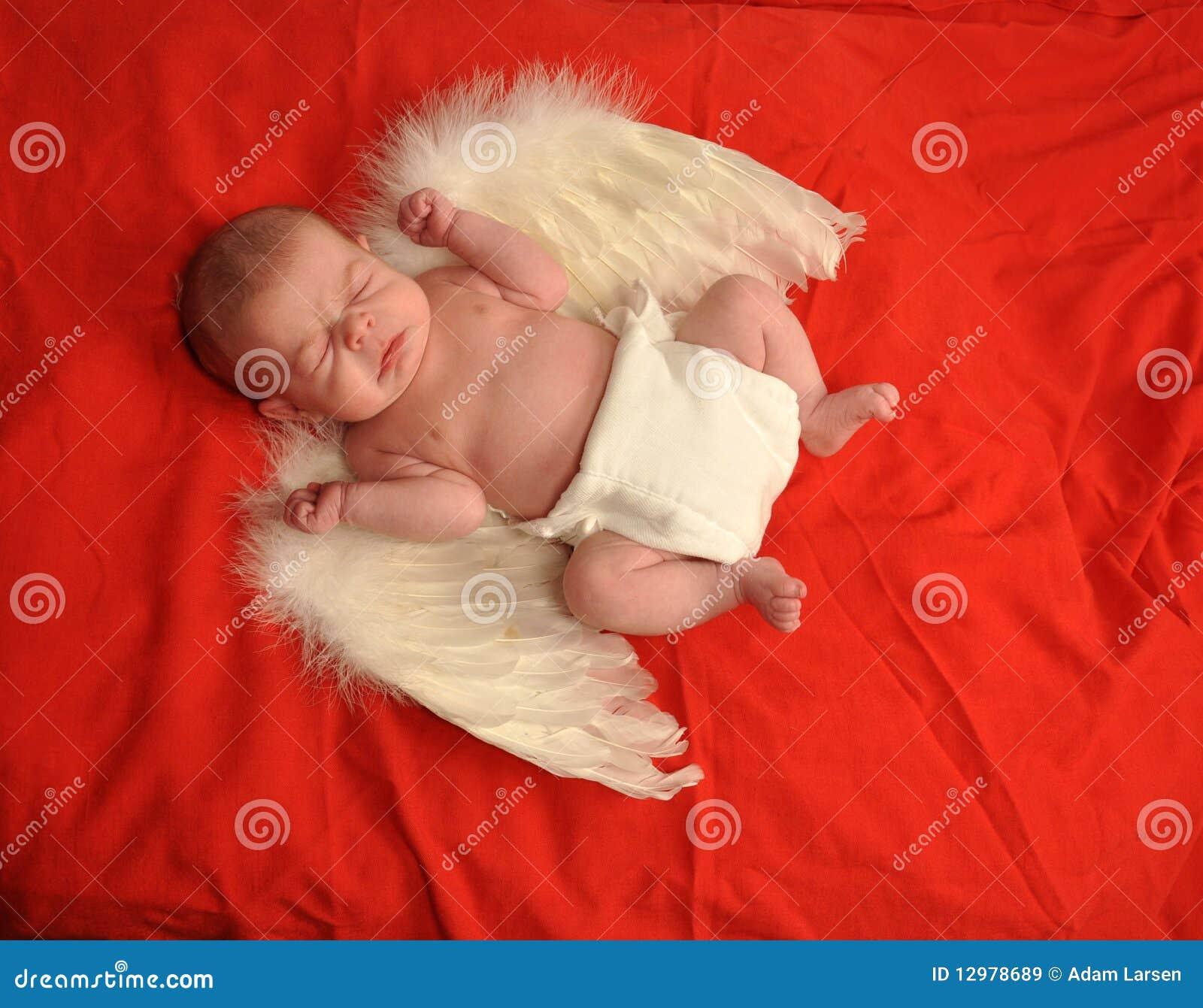 Sneezing Baby Angel Stock Image Image Of Infant Cupid