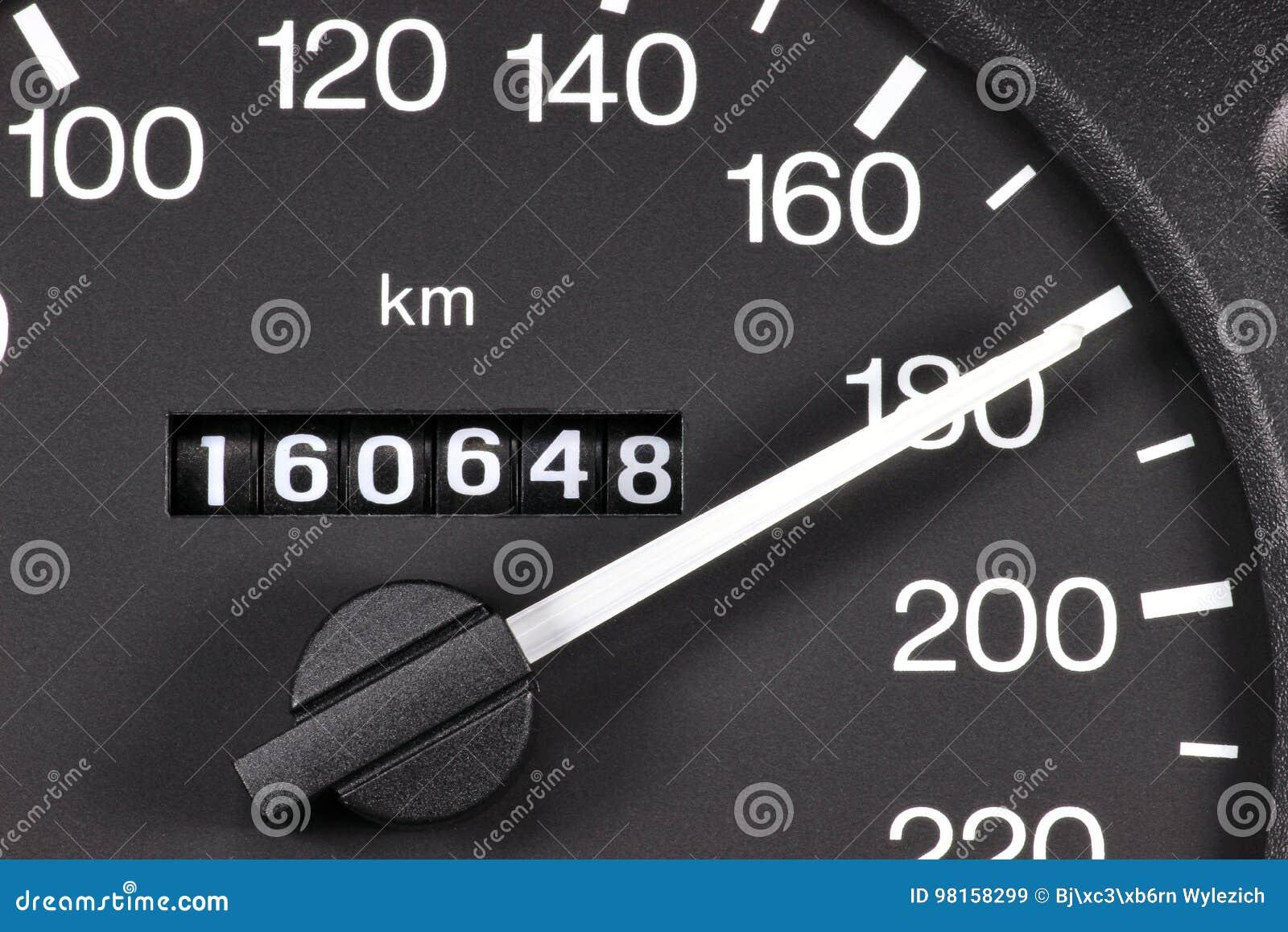 Snelheidsmeter bij 180 km/h