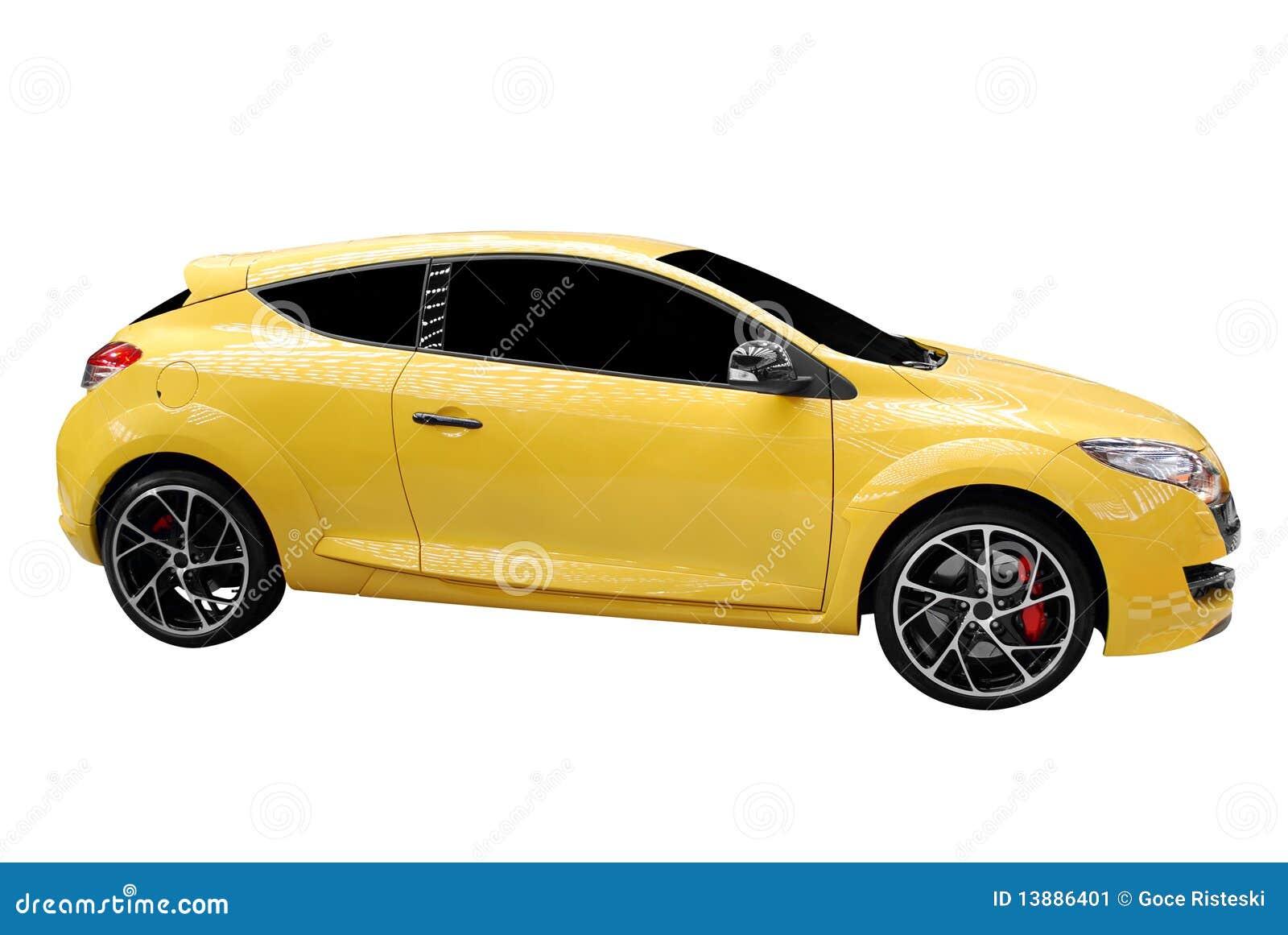Snelle gele auto stock afbeelding afbeelding bestaande for Gele lampen auto