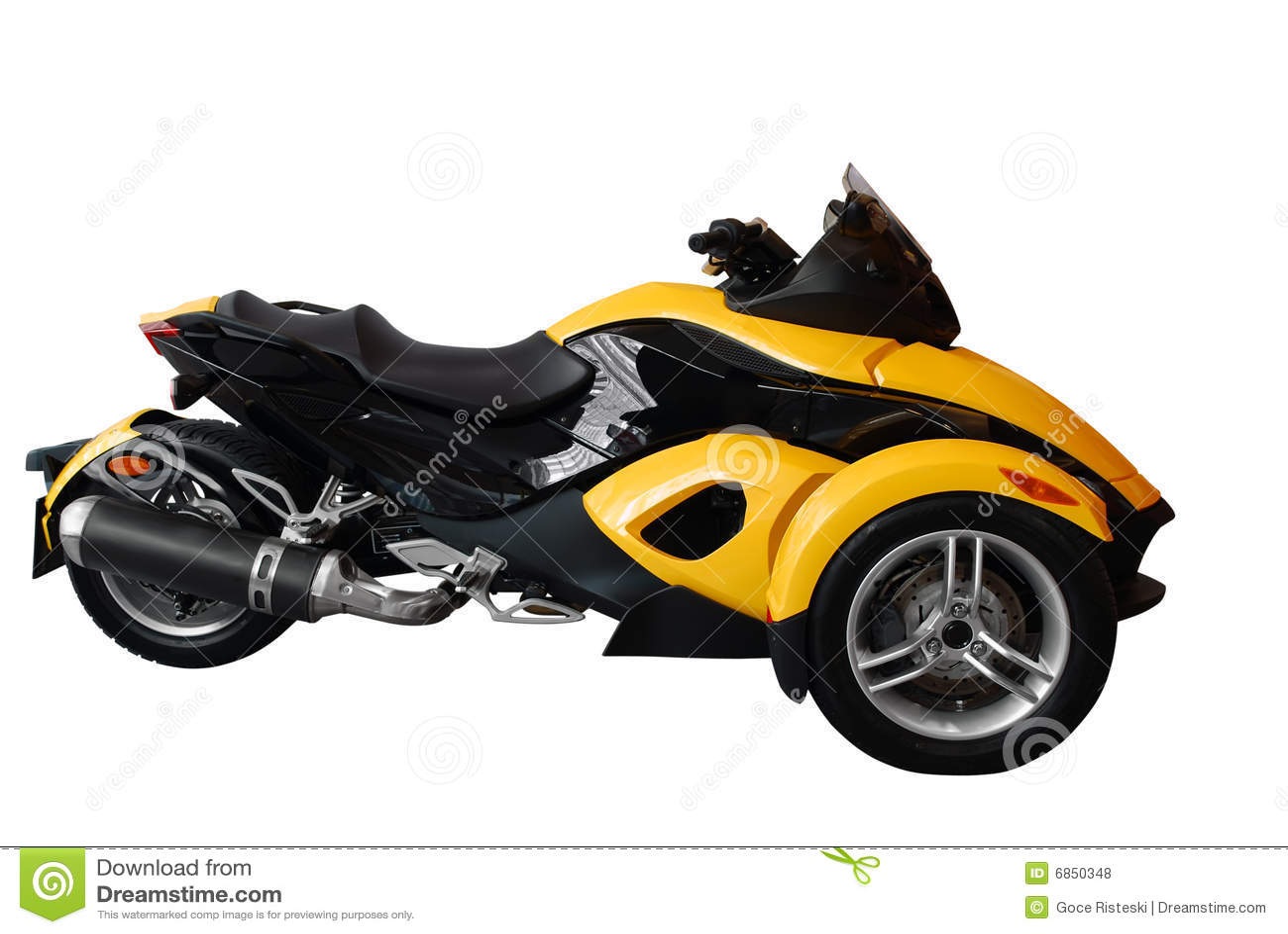 Snelle Motor Met Drie Wielen Royalty vrije Stock Foto u0026#39;s   Afbeelding  6850348