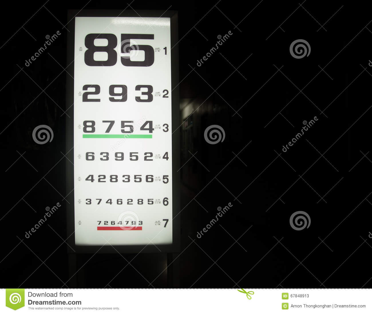 Snellen Chart Stock Illustration Illustration Of Sight 67848913