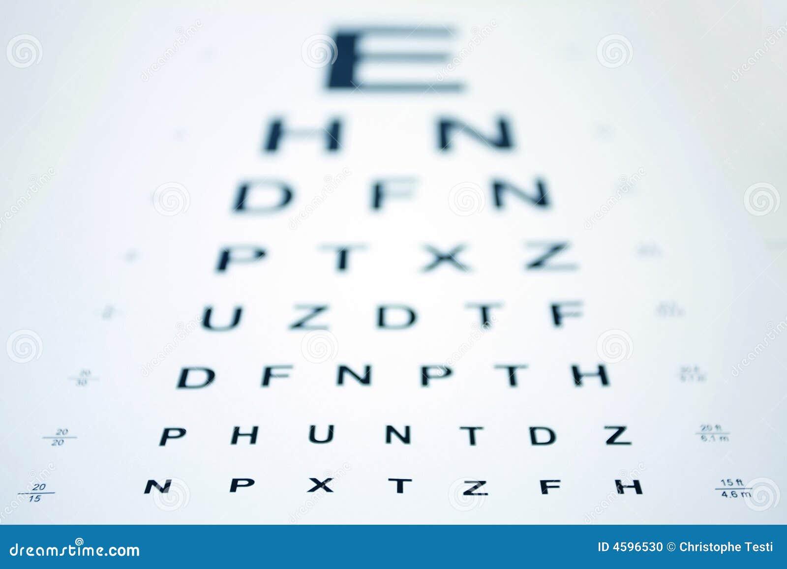 Snellen eye chart stock photo image of letters myopia 4596530 snellen eye chart geenschuldenfo Choice Image