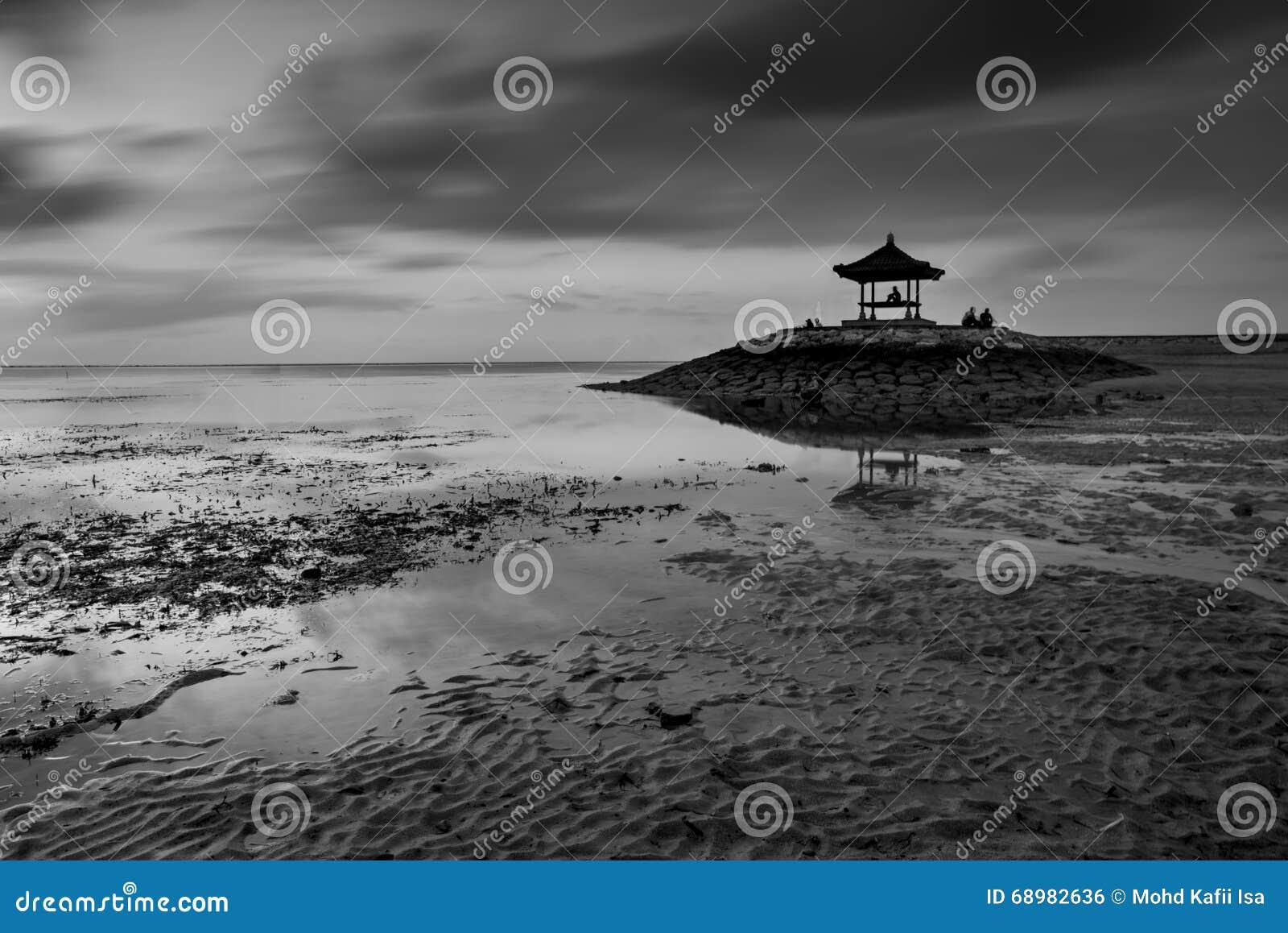 Snenic-Ansicht des Strandes in Bali