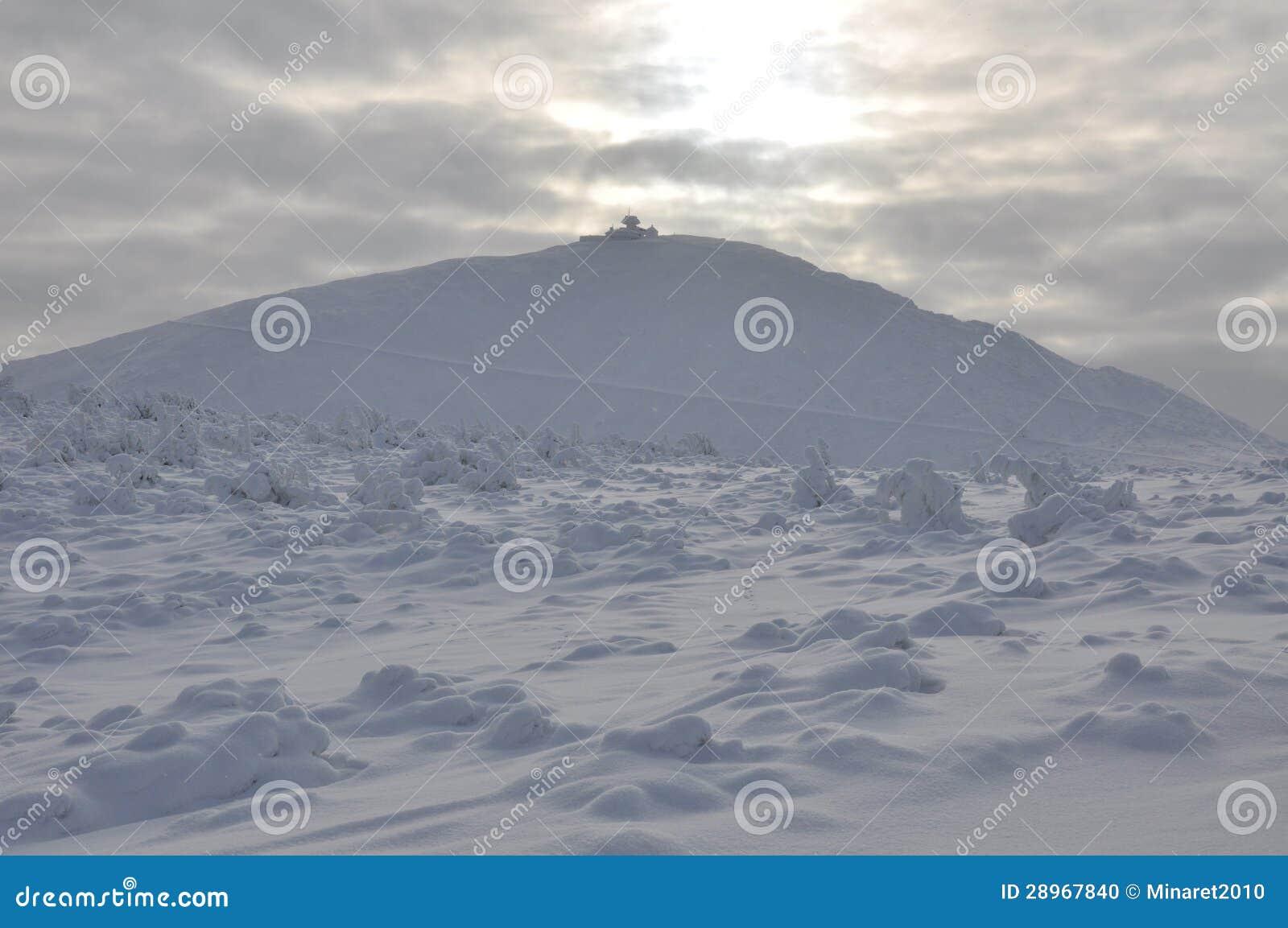 Sniezka śnieżny szczyt w Sudetenland