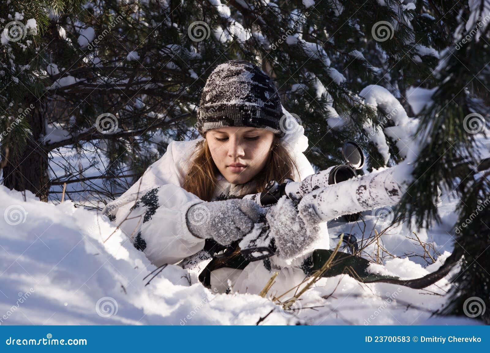 Sniper Girl Stock Photos - Image: 23700583