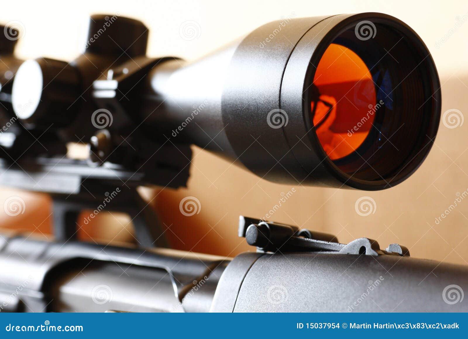 Sniper rifle scope stock photo  Image of sniper, rifle