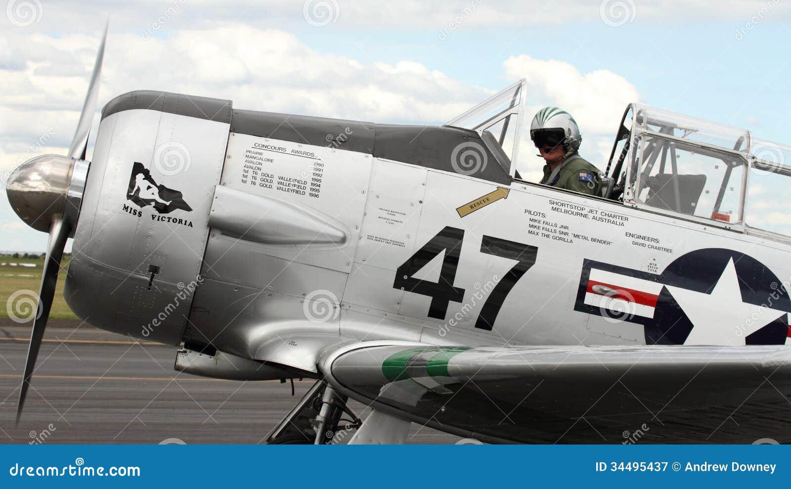 Harvard Warbird Aircraft editorial photography  Image of avionics