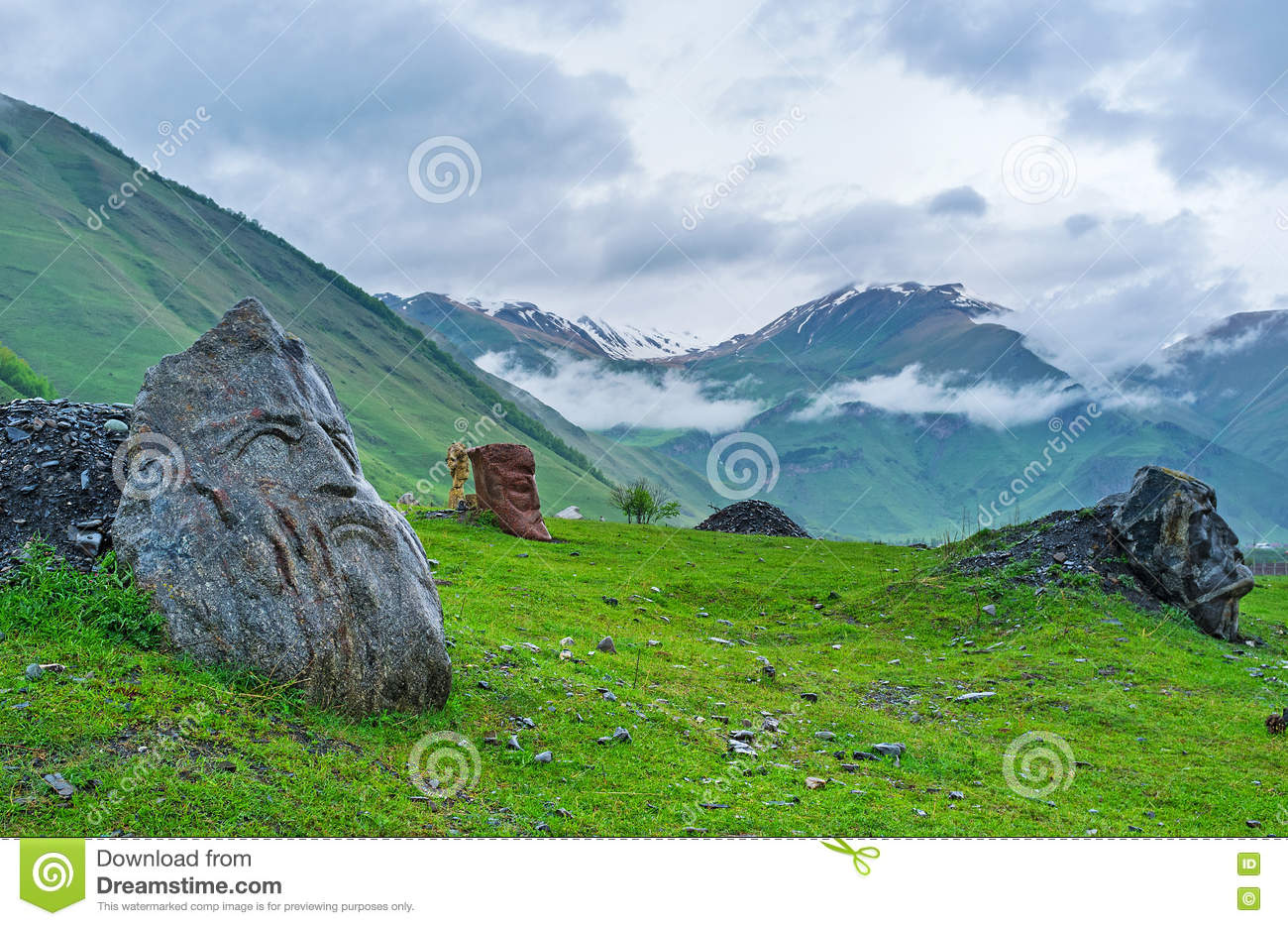 The Sno gorge in fog stock image  Image of monument, nature