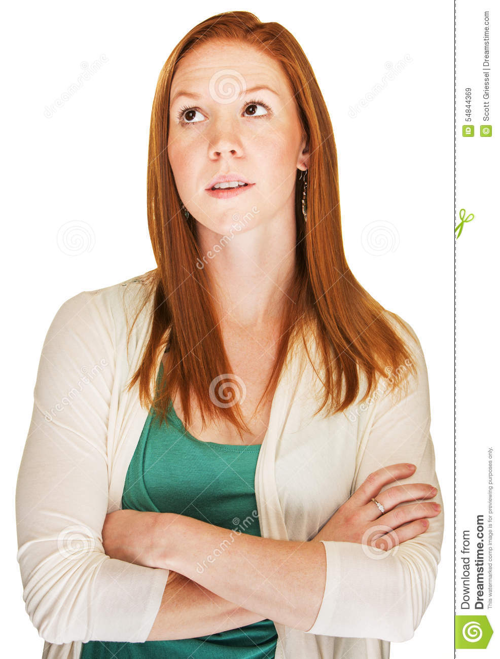 Snob With Arms Folded Stock Image Image Of Daydreaming
