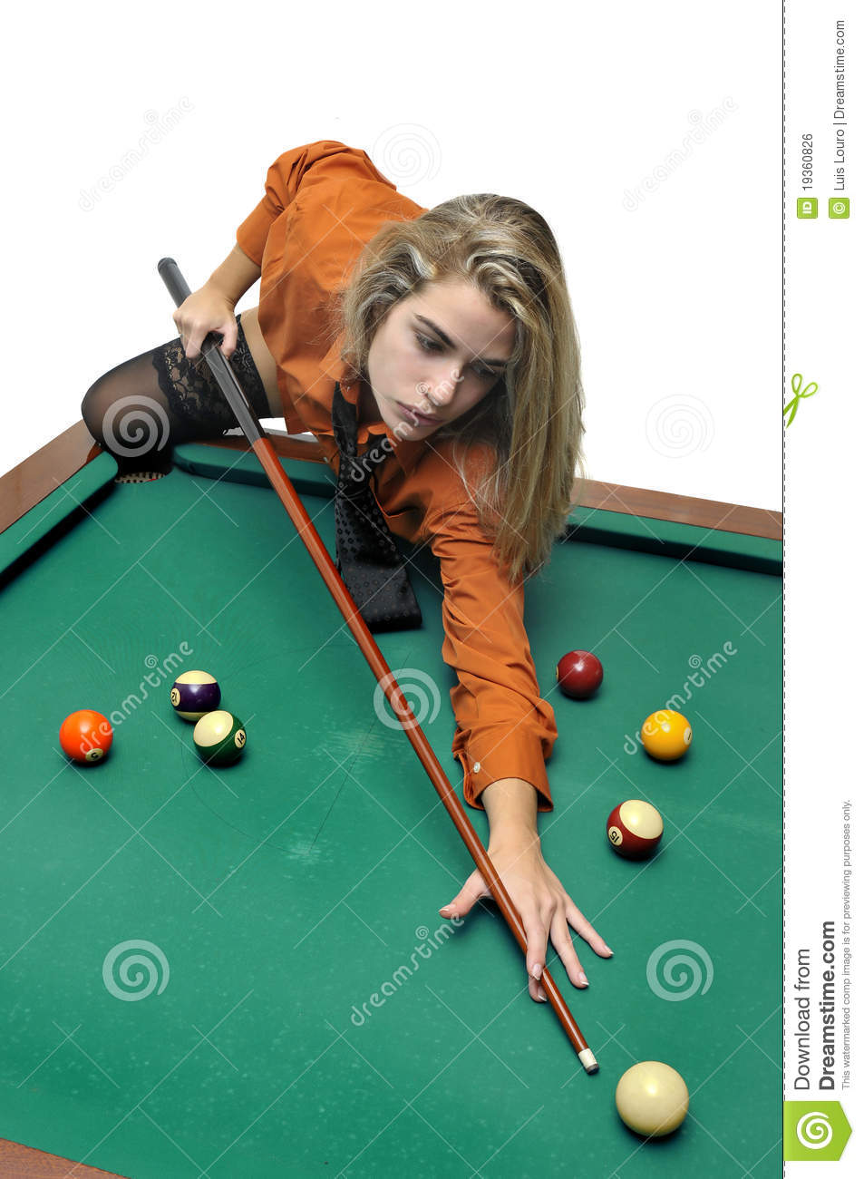 Snooker Girl Stock Photo Image Of Business, Girl, Motivated - 19360826-8864