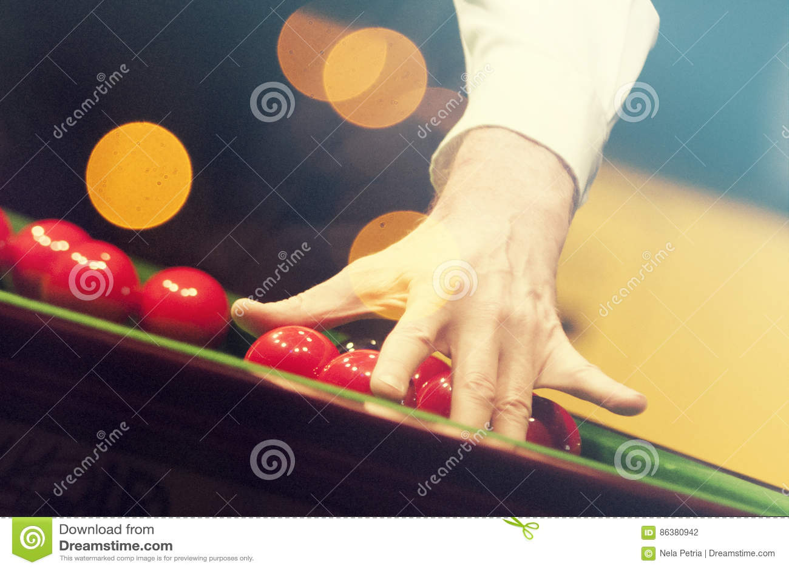 Snooker player stock photo  Image of billiard, black - 86380942
