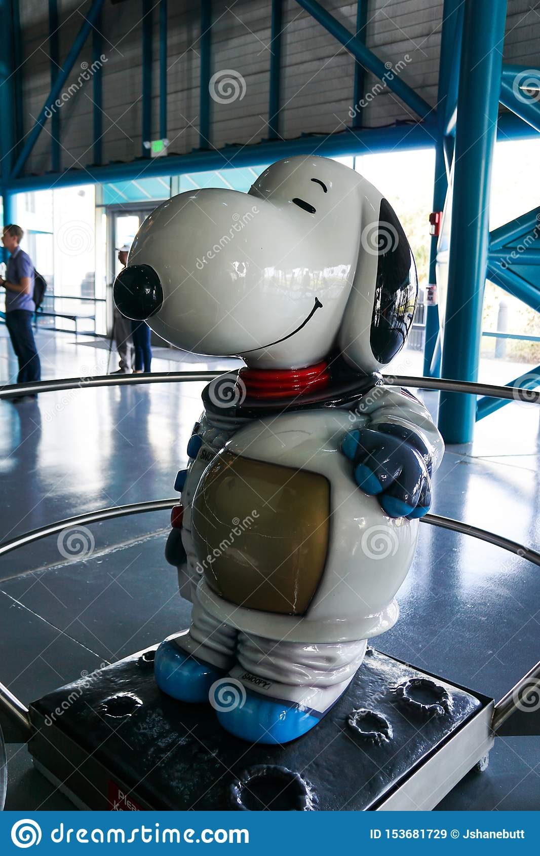 Snoopy the astronaut in a space suit