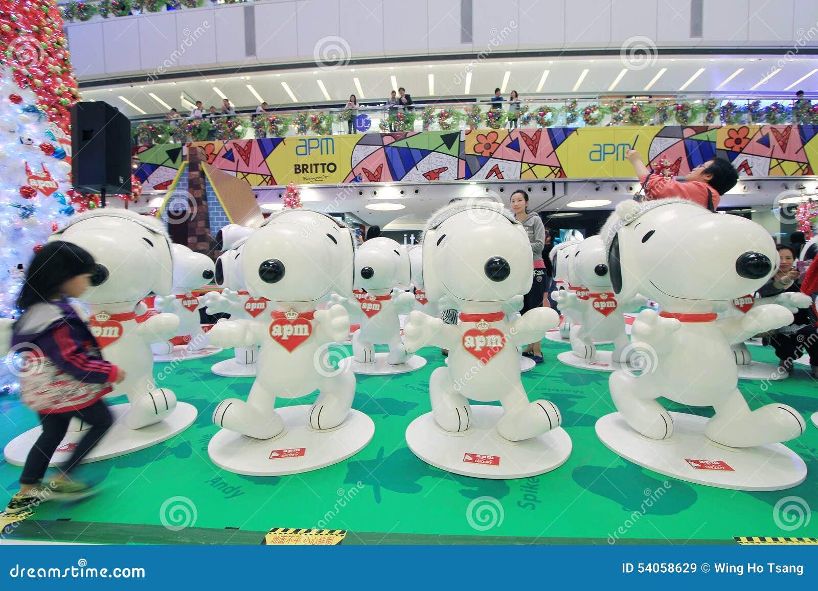 Snoopy Dekoration APM Weihnachtsin Hong Kong Redaktionelles ...