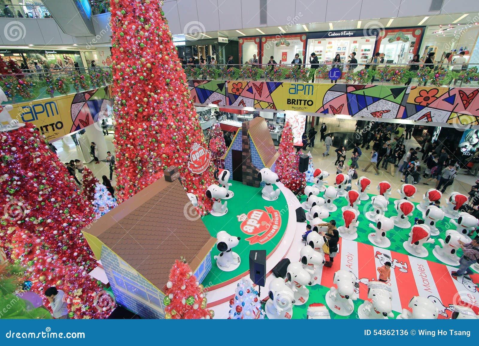 Snoopy Dekoration Des Weihnachten APM In Hong Kong Redaktionelles ...
