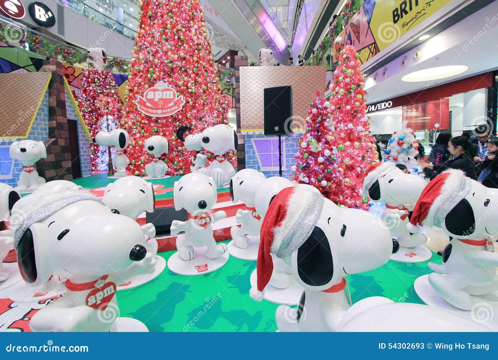 Snoopy Weihnachtsdekoration Hong Kongs APM Redaktionelles Stockfoto ...
