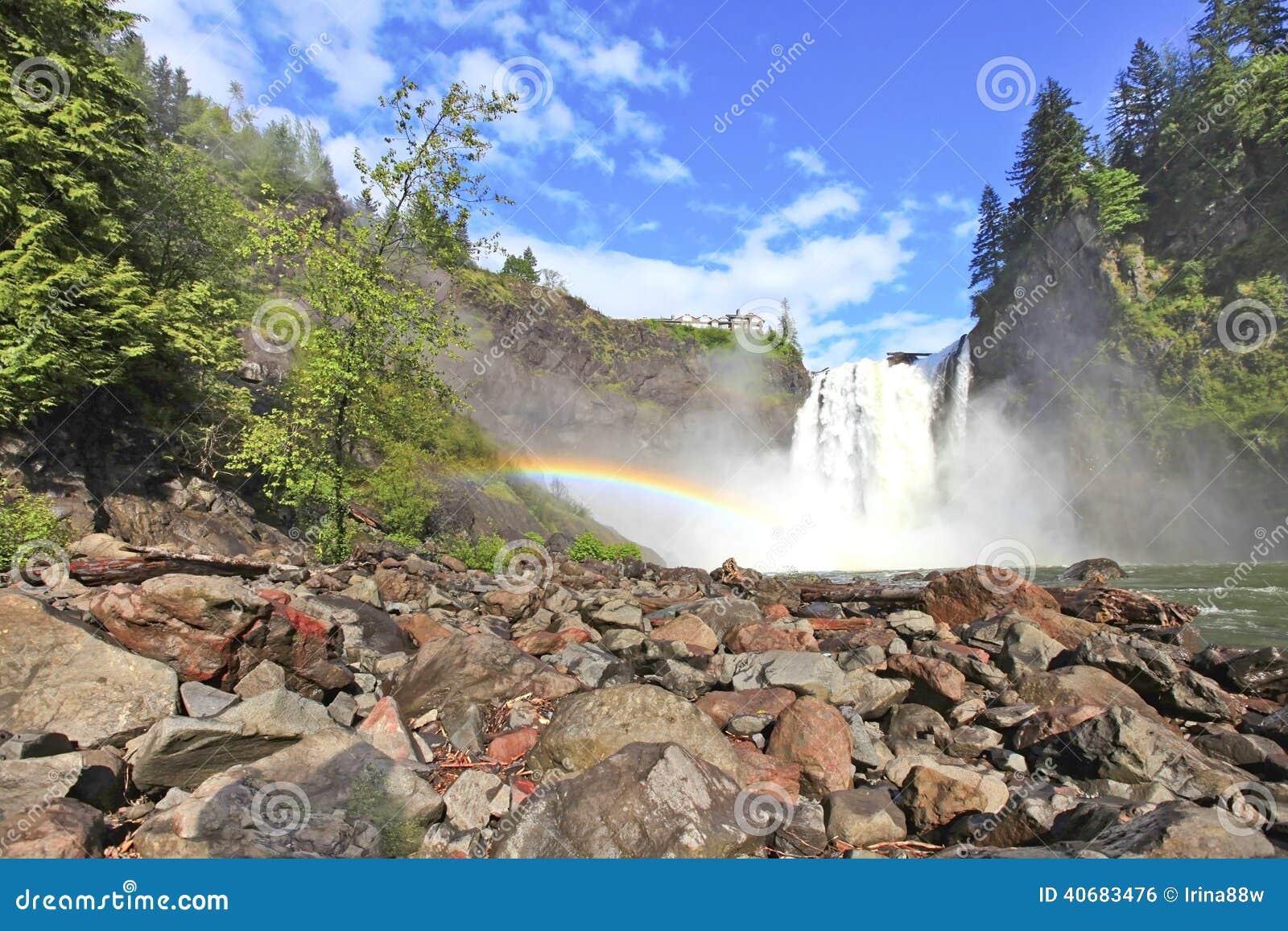 Snoqualmie vattenfall tillstånd washington