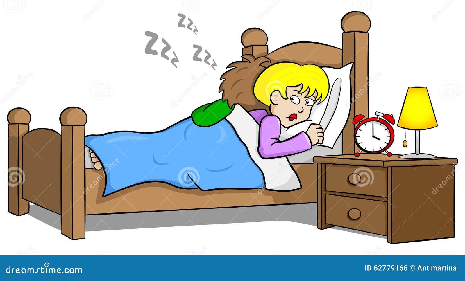 Snoring man and sleepless woman
