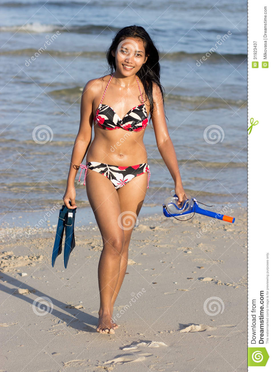 snorkeling girl royalty free stock photography   image