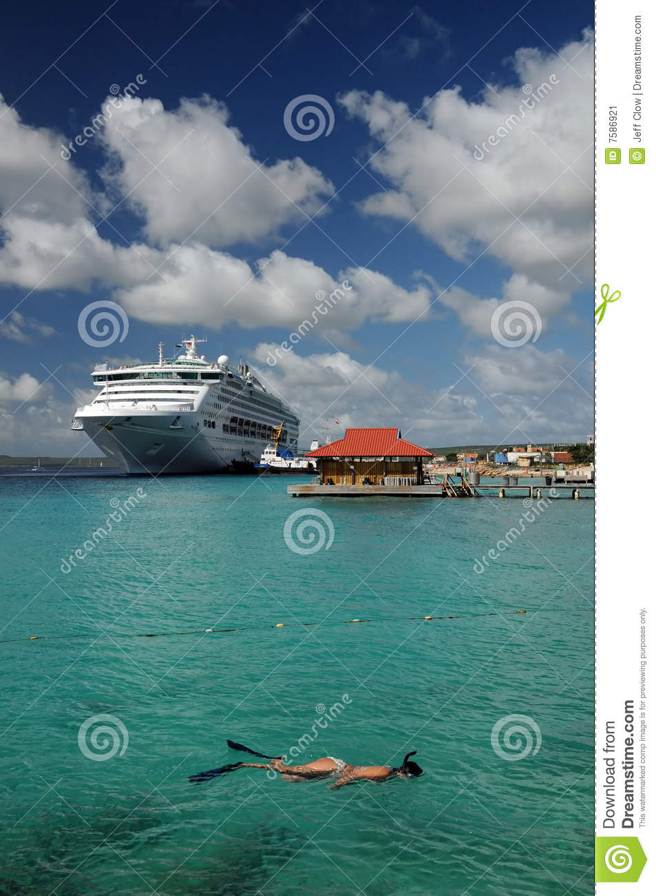 Snorkeling Lady on a Cruise