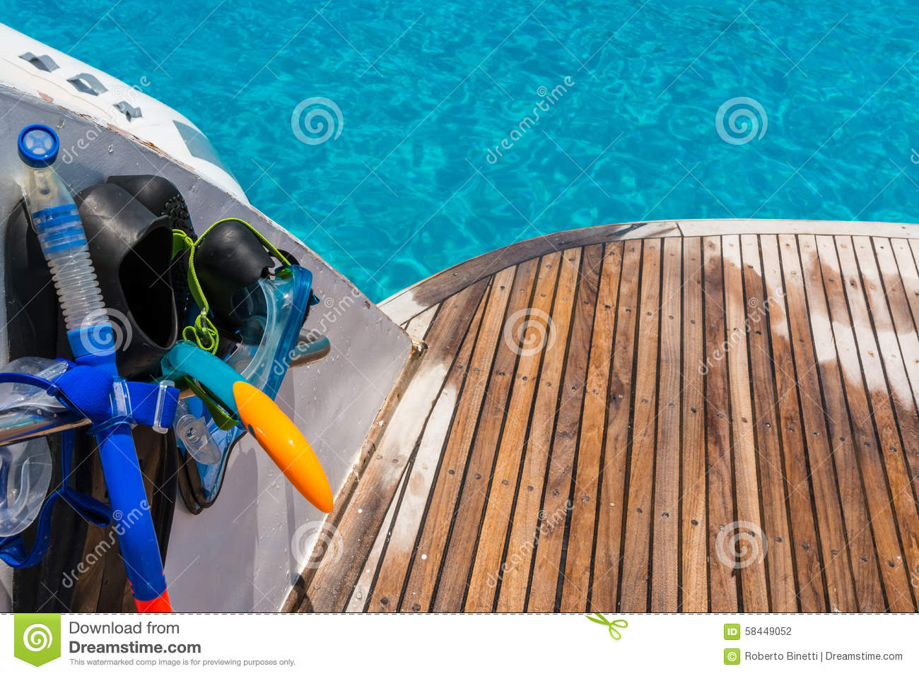 Snorkeling Time Stock Photo. Image Of Ocean, Boat, Mask