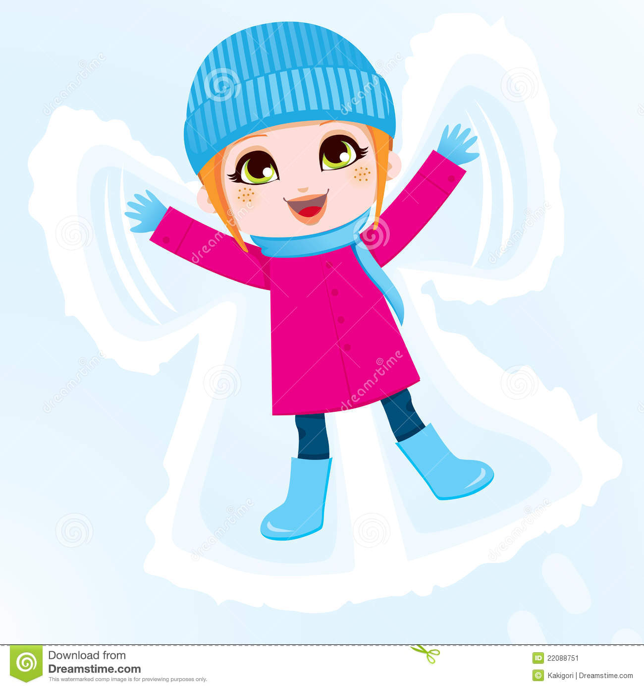 snow angel stock illustrations 3 947 snow angel stock rh dreamstime com snow angel clipart Playing in the Snow Clip Art