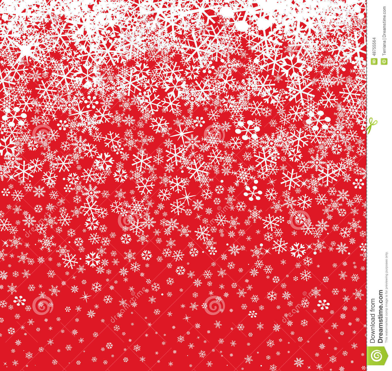 Snow Background. Snowflakes Pattern. Winter Snowy Stock ...