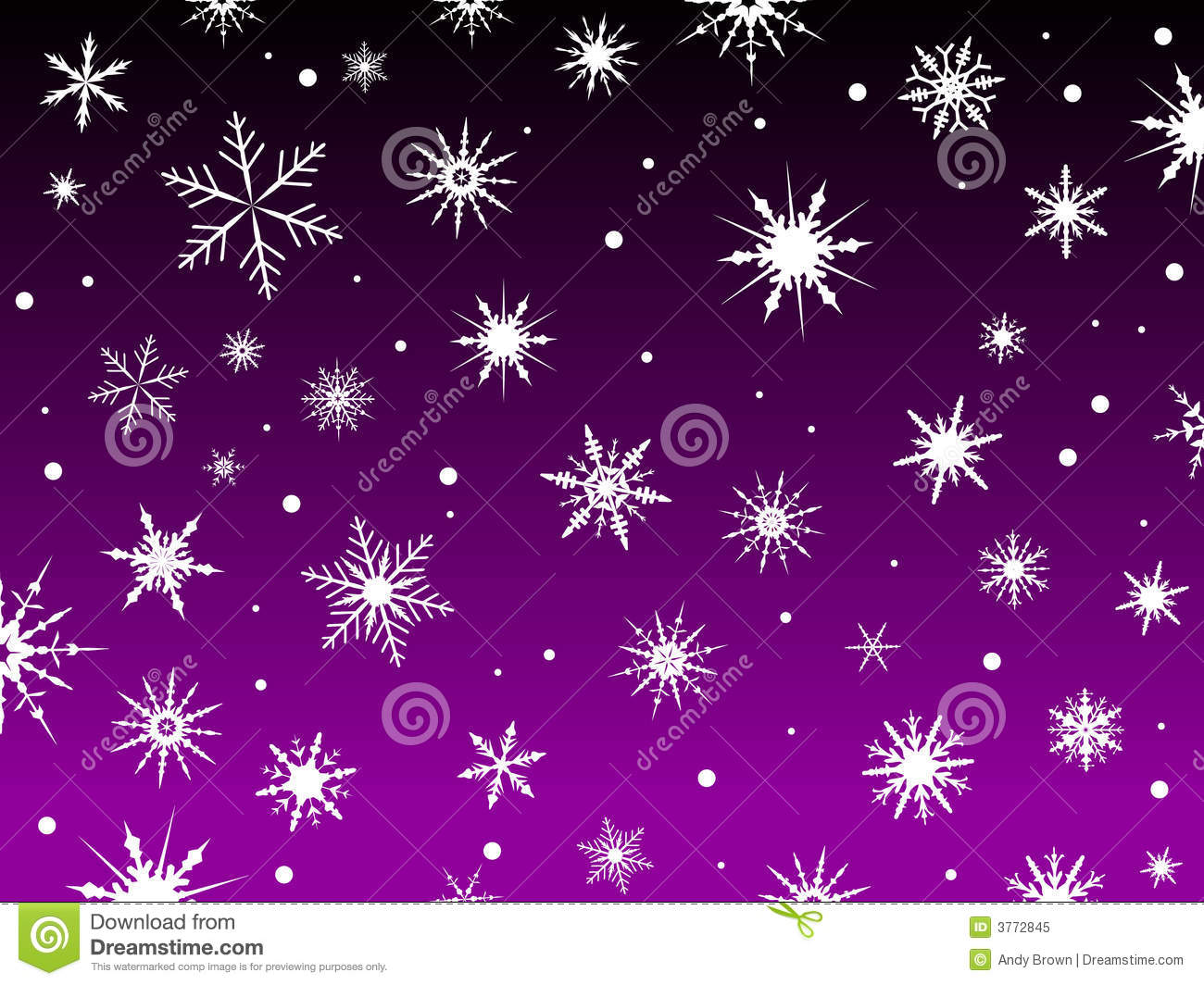 snow border purple royalty free stock photo