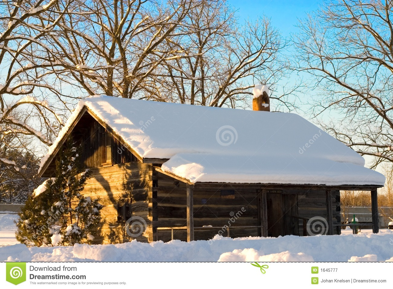 Snow Cabin Stock Image Image Of Built History Canada
