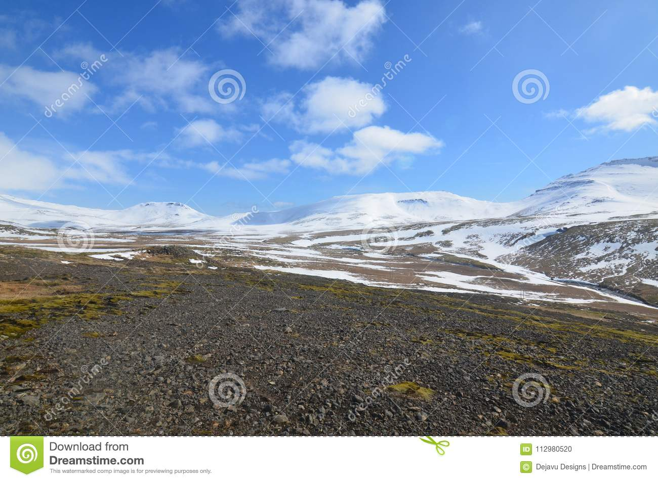 Snow Capped Glaciers in Western Iceland on Snaefellsnes Peninsula