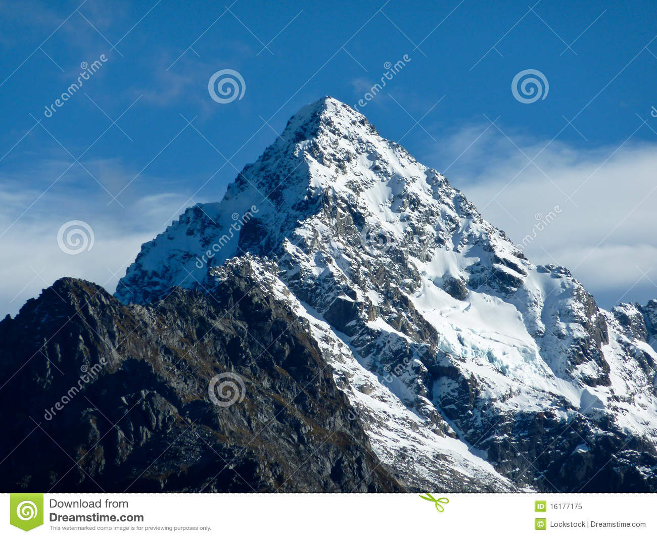 Snow capped mountain stock image image of cloud photo 16177175 snow capped mountain royalty free stock photo sciox Gallery