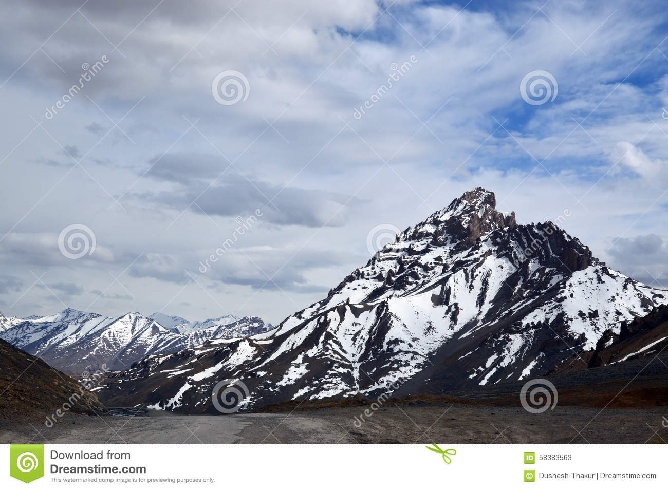 A snow capped mountain