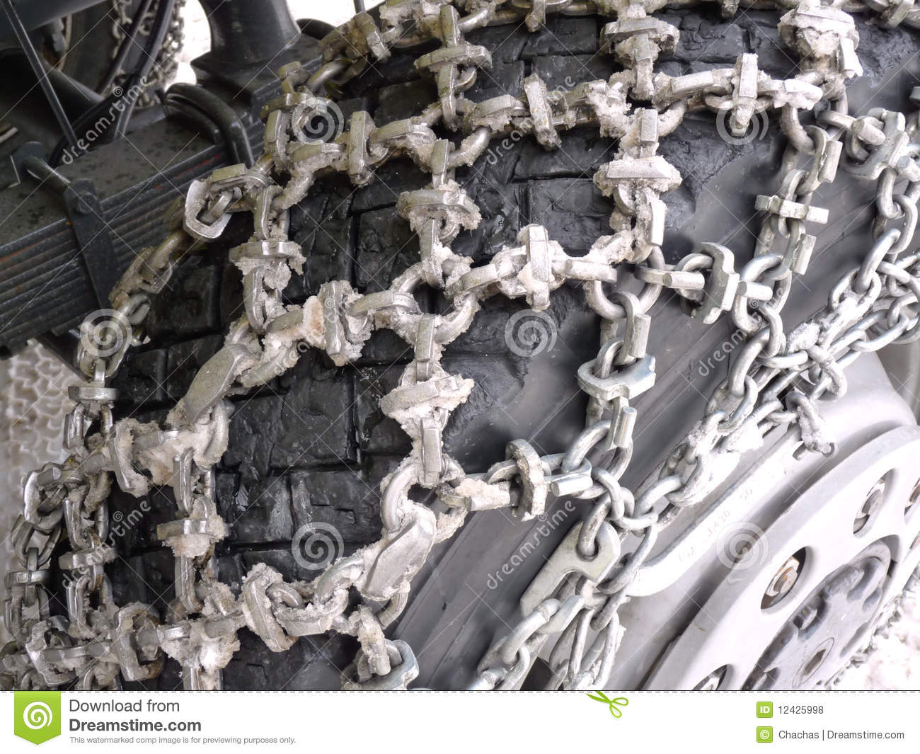 snow chains  truck royalty  stock  image