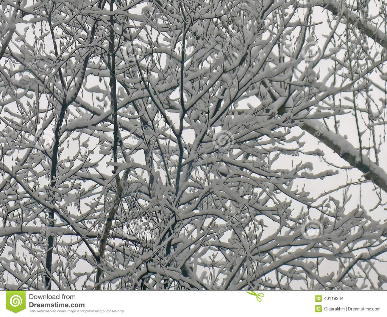 how to make snow covered branches